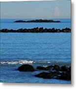 Rock Ledges And Calm Seas Metal Print