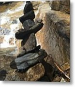 Rock Monument At Jones Gap Falls II Metal Print