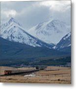 Rock Mountain Front- Train Metal Print