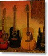 Rock N Roll Guitars Metal Print