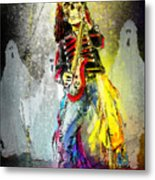 Rock N Roll The Bones Metal Print