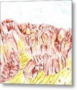 Rock Outcrop Metal Print