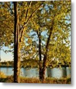 Rock River In October Metal Print