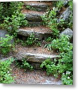 Rock Stairs Metal Print