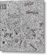 Rock Timeline Metal Print