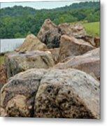 Rock Wall Metal Print