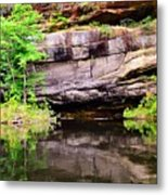 Rock Wall Reflections Metal Print