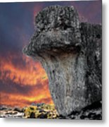Rock Wallpaper Metal Print