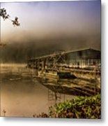 Rockaway Beach Dock 1 Metal Print