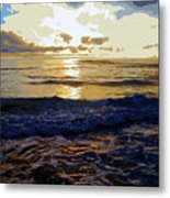 Rockaway Sunset #3 Enhanced #2 Metal Print