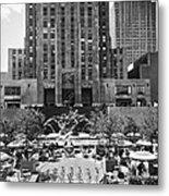 Rockefeller Center Plaza Metal Print