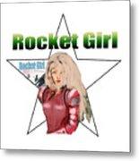 Rocket Girl Metal Print