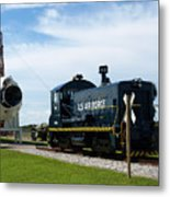 Rocket Locomotive At Cape Canaveral In Florida Metal Print