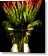 Rocket Propelled Tulips Metal Print