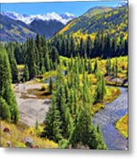 Rockies And Aspens - Colorful Colorado - Telluride Metal Print