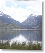 Rockies Over The Lake Metal Print