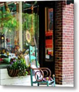 Rocking Chair By Boutique Metal Print