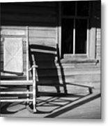 Rocking Chair Work A Metal Print