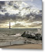 Rocking The Atlantic Ocean Metal Print