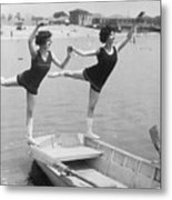 Rocking The Boat Metal Print by Fpg