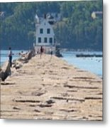 Rockland Breakwater Light Metal Print