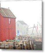 Rockport Fog Metal Print
