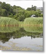 Rockport Reeds And Reflections Metal Print