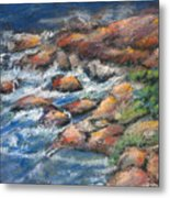 Rocks Along The Shore Metal Print