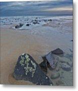 Rocks And Barnacles, Plum Island Metal Print