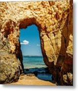 Rocks And Ocean Landscape In Lagos, Wall Art Print, Landscape Art, Poster Decor, Printable Photo Metal Print