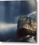 Rocks And Waterfalls Metal Print