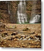 Rocks And Waterfalls Metal Print by Iris Greenwell