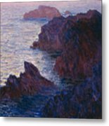 Rocks At Bell Ile Metal Print