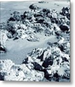 Rocks At Shoreline Metal Print