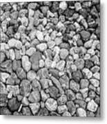 Rocks From Beaches In Black And White Metal Print