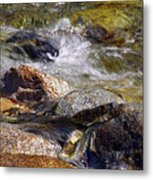 Rocks In A Stream 2a Metal Print
