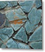 Rocks In A Wall Metal Print