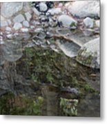 Rocks In Reflection Metal Print