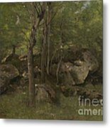 Rocks In The Forest Of Fontainebleau Metal Print