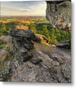 Rocks Of Sharon Overlook Metal Print
