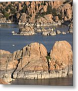 Rocks Of Watson Lake  Metal Print