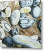 Rocks On Beach Metal Print