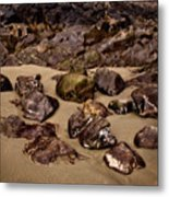 Rocks On The Beach Metal Print