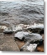 Rocks On The Chesapeake Metal Print
