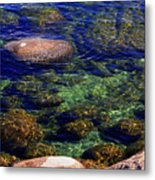 Rocks Ripples And Reflections Metal Print