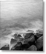 Rocks To The Ocean Metal Print