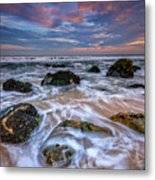 Rocky Beach At Sandy Hook Metal Print