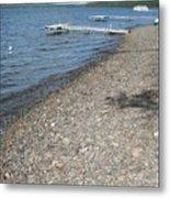Rocky Beach On A Lake Metal Print