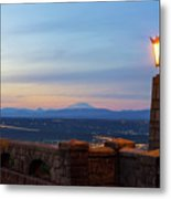Rocky Butte Viewpoint At Sunset Metal Print