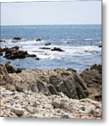 Rocky California Coastline Metal Print